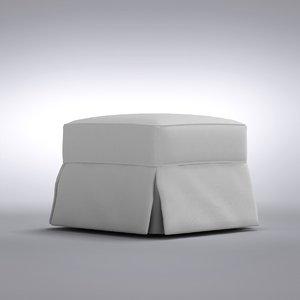 3d model crate barrel - bayside