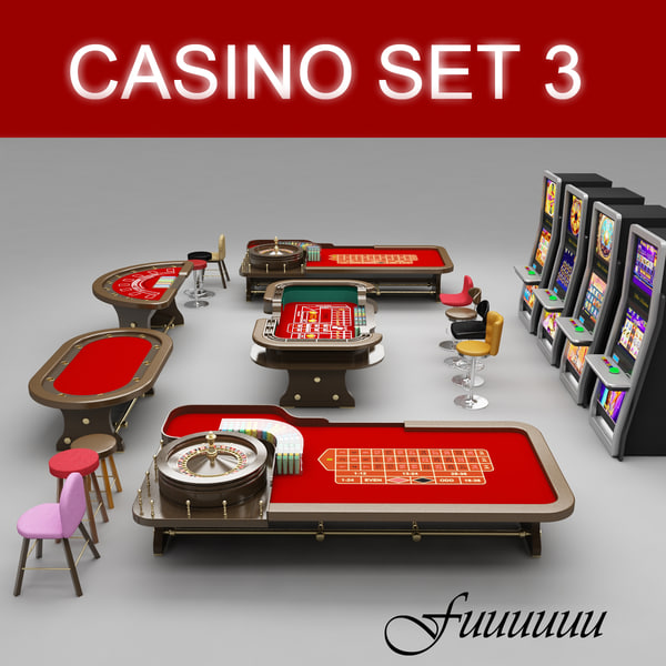 casino set 3 3d model