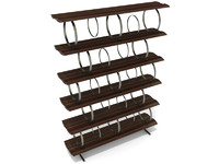 3d bookcase ceccotti flying circles