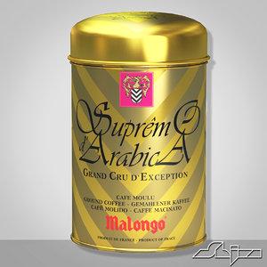 3d model coffee supremo d arabica