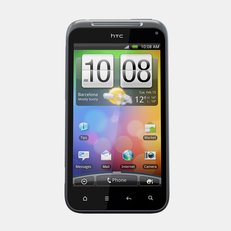 3d htc incredible s mobile phone model