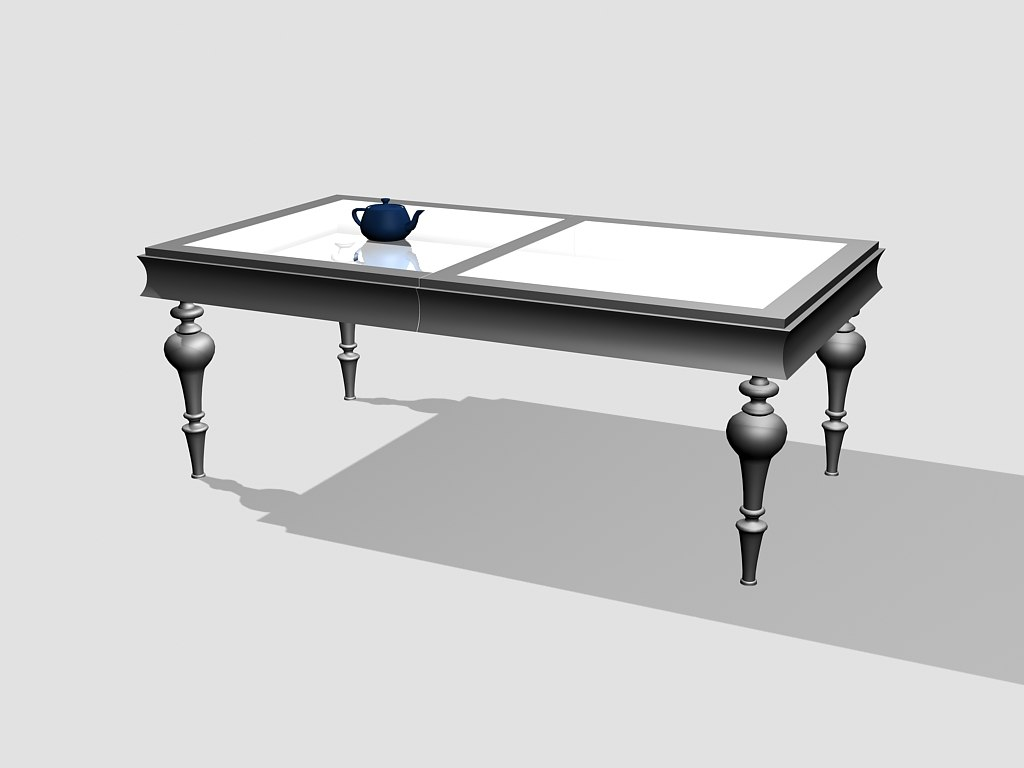 mobil fresno table 3d model