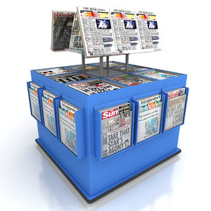 3ds max news paper stand