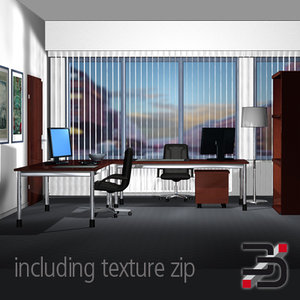 office scene 3ds