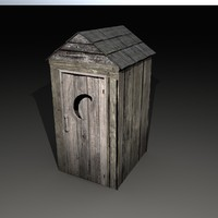 3d model outhouse house