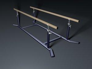 3d model parallel bars gym