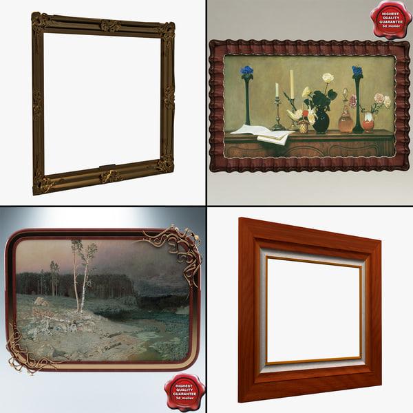 3d model picture frames v1