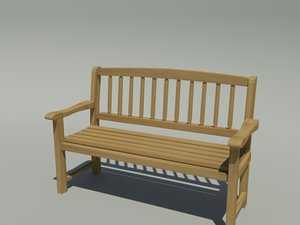 3d model bench outdoor