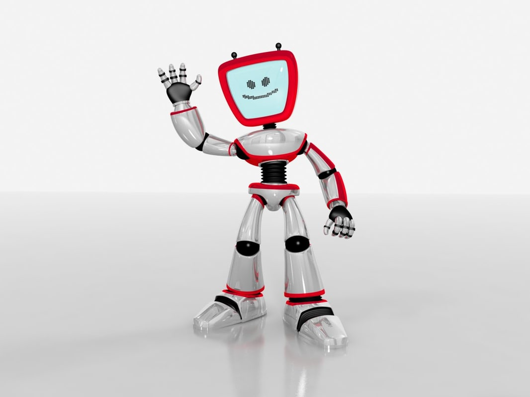 robot cute bot 3d max