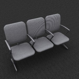 triple office chair gray max