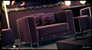 3d model italian design cushions