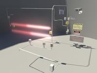 laser security - 3d obj