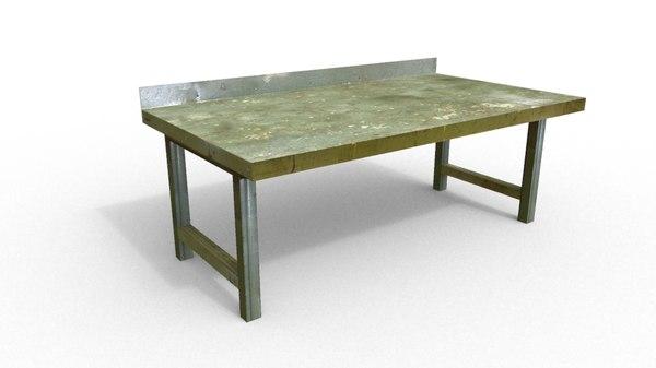 3d workshop bench model