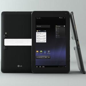 3d lg optimus pad tablet model