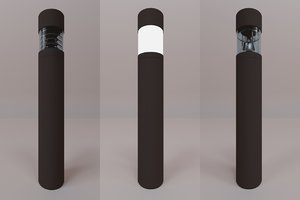bega lighting bollards 3ds