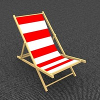 3ds max beach chair