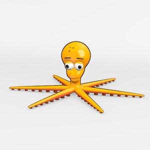 3d model squid cartoon