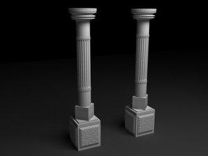 3d antique column n3