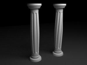 antique column n5 3d model