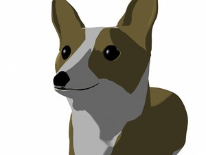 3d model of welsh corgi