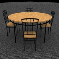 mission diningroom table chair 3d max