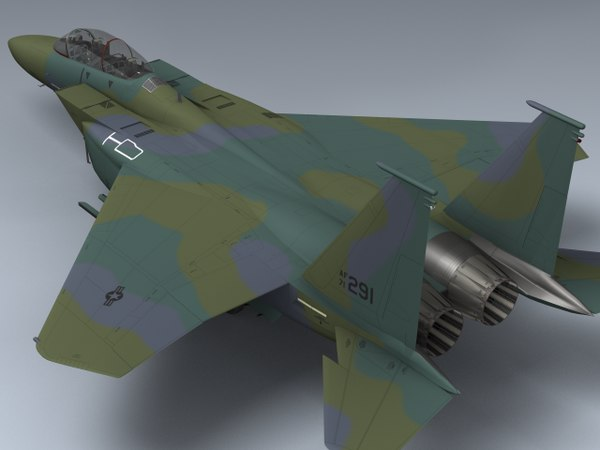 3d model usaf f-15e strike eagle