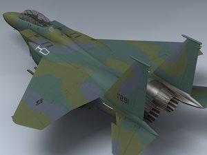 3d model usaf f-15e strike eagle