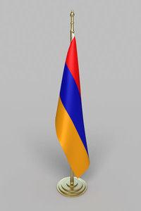 armenia flag 3ds