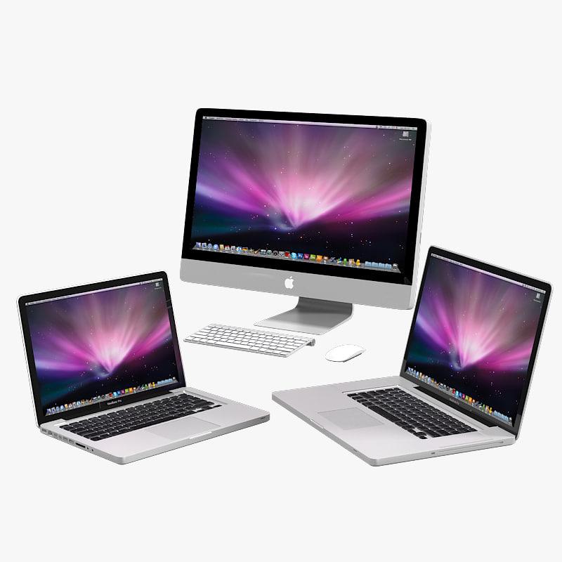 3d model apple imac macbook