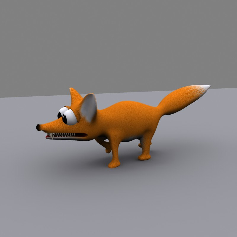 3d cartoon fox model