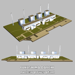 explosion nuclear power plant 3d 3ds