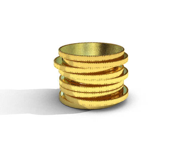 blank gold coins 3d 3dm
