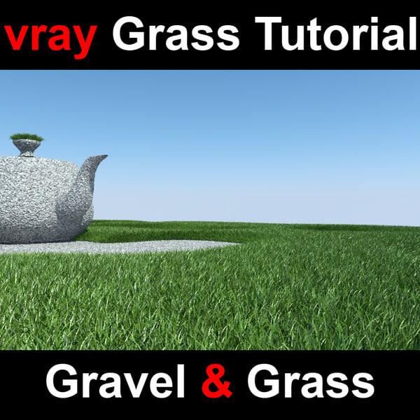 displaced gravel grass 3d model