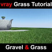 displaced gravel grass 3d model