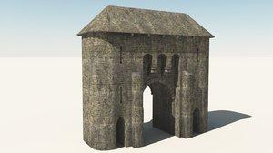 gatehouse gate obj