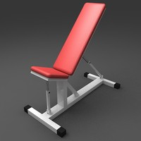 3d model incline flat bench