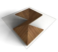 3d coffee table modern origami model