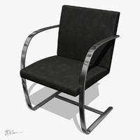 brno chair flat bar mies van der rohe 1930
