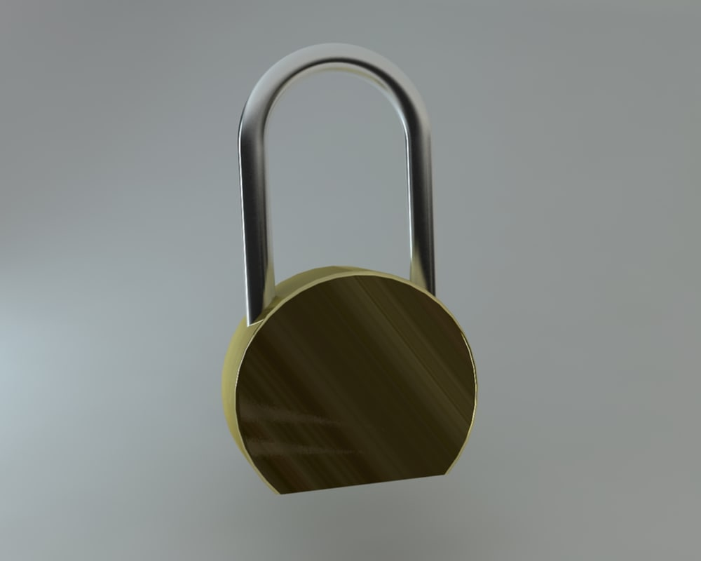 padlock lock 3d max