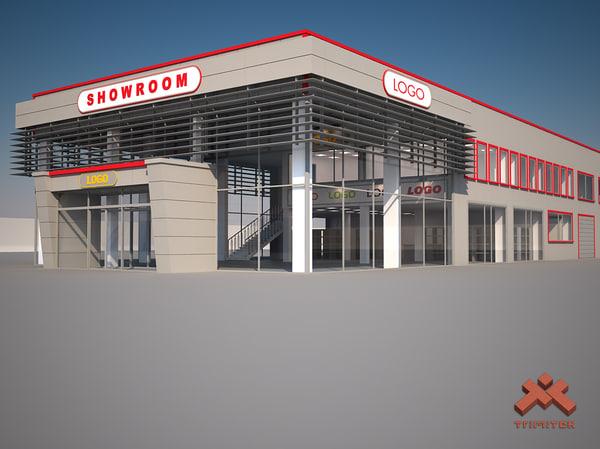 3d commercial showroom model