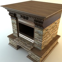 fireplace materials 3d model