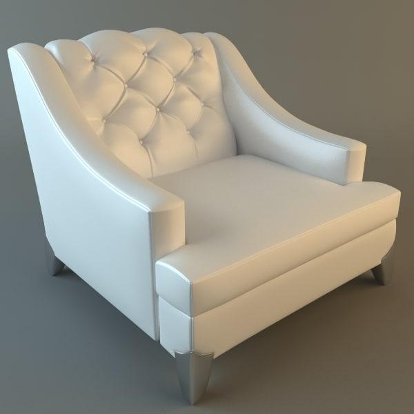 3dsmax armchair details