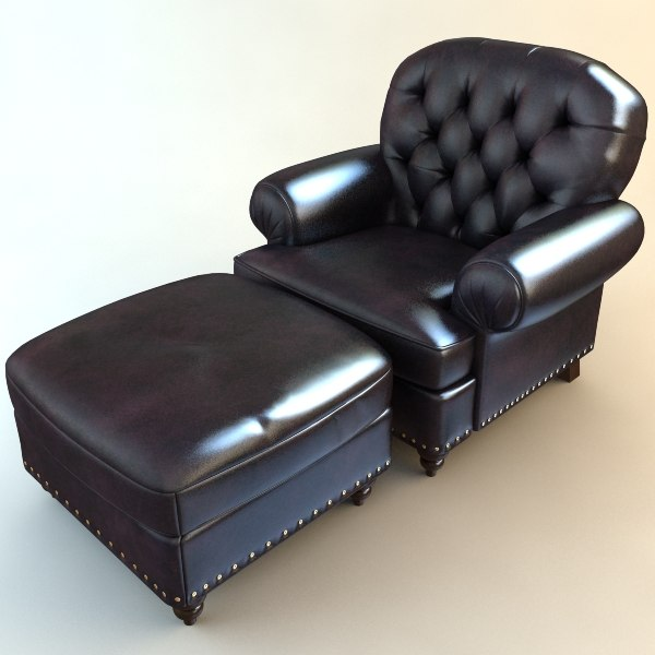 3d model armchair ottoman chair