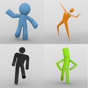 3d model cartoon characters