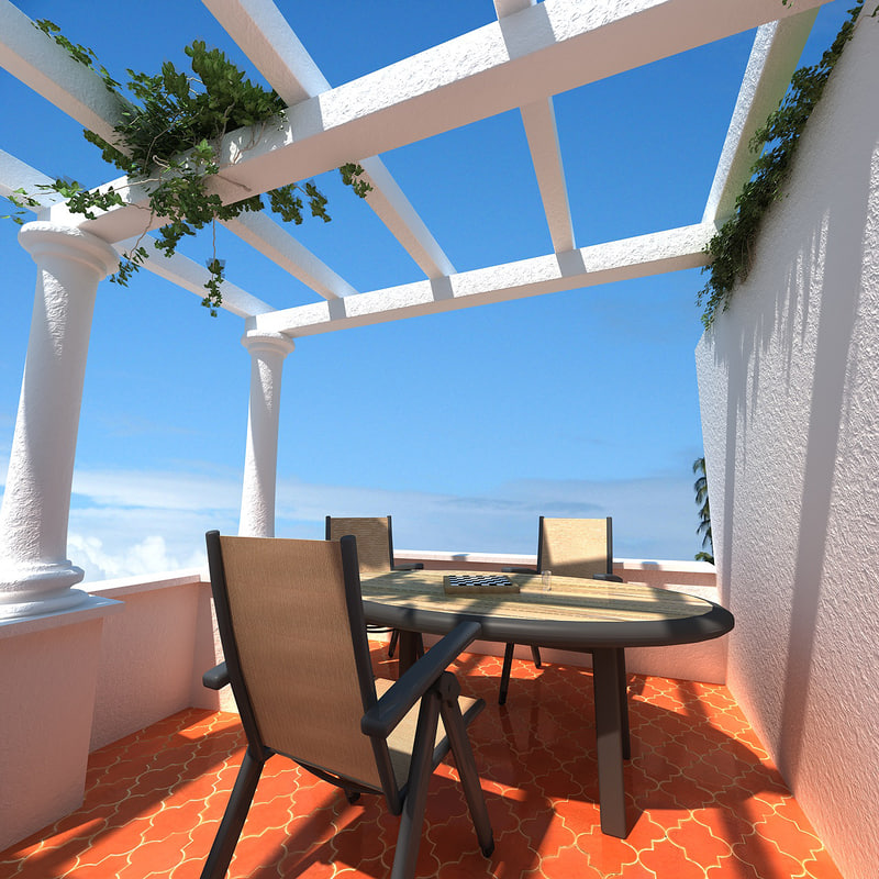 scene terrace 3d model