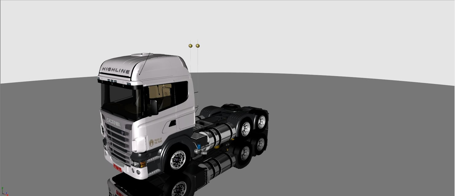 3d scania version brazil truck model