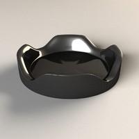 3dsmax black ashtray