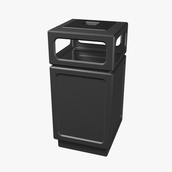 street bin trash 3d model