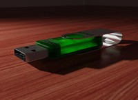 3d usb flash drive model