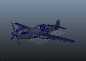 aircraft p40 3d ma